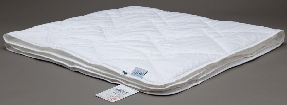 Одеяло Grass Familie Bamboo Familie Bio, легкое, наполнитель: бамбуковое волокно, микроволокно, цвет: белый, 155 х 200 смFB-3231Легкое одеяло Grass Familie создаст комфорт и уют во время сна.Бамбук служит превосходным сырьем для подушек и одеял: легкие и воздушные волокна обладают бактерицидными свойствами, создавая отличные условия сна. Бамбук растет в естественных условиях без применения химических удобрений, что сказывается самым благотворным образом на чистоте сырья. Легкие одеяла идеальны для теплых ночей, всесезонные одеяла- прекрасный выбор для городских квартир. Стирка при температуре до 40С°. Не вызывает аллергии.