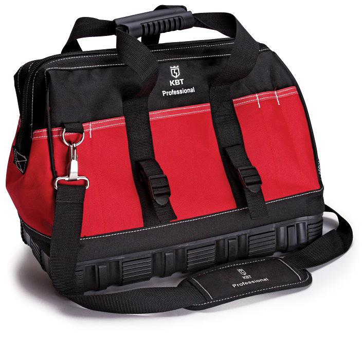 Сумка монтажника КВТ С-01, универсальная, цвет: красный65330Сумка монтажника КВТ С-01 выполнена из водонепроницаемого высококачественного полиэстера. Сумка имеет 8 внутренних карманов в одном большом отделении и 11 наружных карманов.У сумки усиленное водозащитное резиновое дно с высокими бортиками и рифленые резиновые накладки на ручках для удобства переноски. Ремень с мягким наплечником и металлическими карабинами. Застегивается на прочную усиленную молнию с крупными звеньями. Сумка выдерживает вес до 20 кг. Наружные петли для подвешивания инструмента.