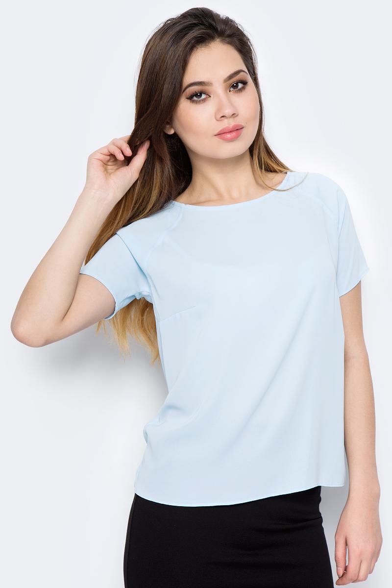 Блузка женская adL, цвет: голубой. 11524788011_035. Размер M (44/46)11524788011_035Стильная блузка от adL выполнена из высококачественного материала. Модель свободного кроя с короткими рукавами-реглан и круглым вырезом горловины.