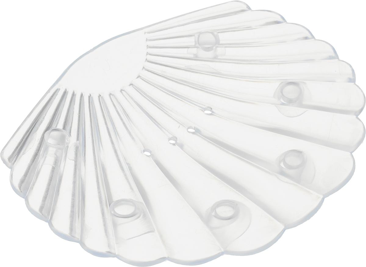 Мыльница Libra Plast Ракушка, цвет: прозрачный, белый. LP0048 форма профессиональная для изготовления мыла мк восток выдумщики 688758 1