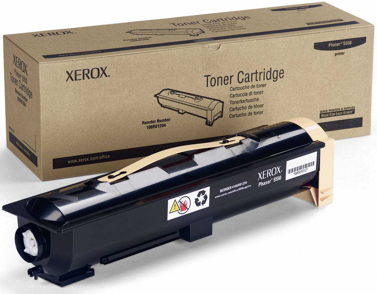 Xerox 106R01294, Black тонер-картридж для Xerox Phaser 5550106R01294Картридж лазерный Xerox 106R01294 идеально подходит для работы с Xerox Phaser 5550. Он способен обеспечить печать 35000 страниц при использовании стандартной бумаги формата А4. Картридж изготовлен из качественных материалов и гарантирует работоспособность даже в условиях максимальной загрузки устройства. Картридж предназначен для печати черным цветом и обеспечивает бесперебойную работу современного оборудования. Xerox 106R01294 - это сочетание лучших материалов по доступной цене.
