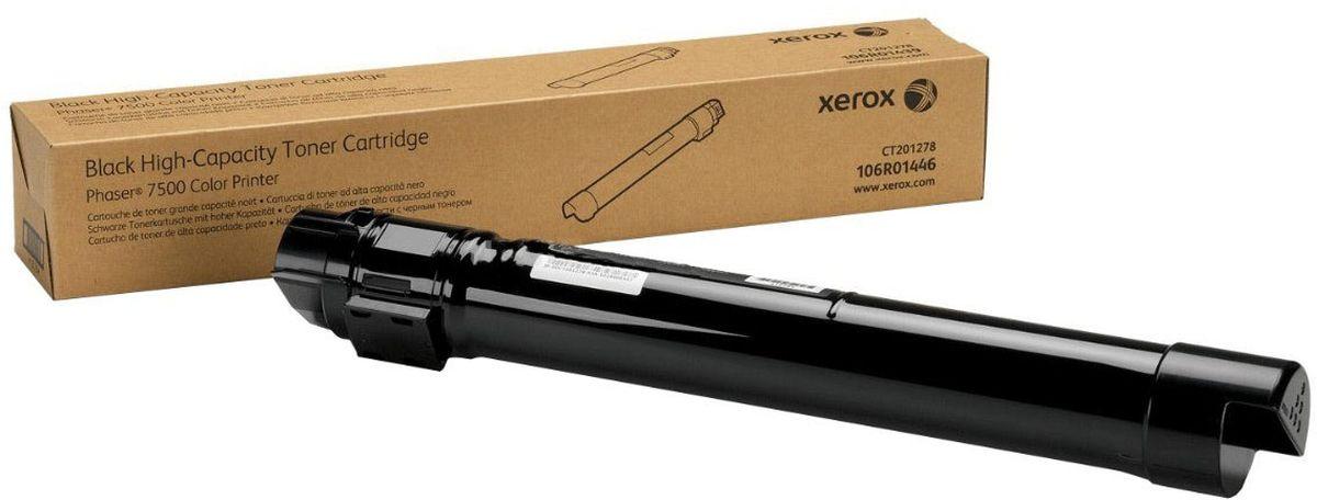 Xerox 106R01446, Black тонер-картридж для Xerox Phaser 7500106R01446Картридж лазерный Xerox 106R01446 идеально подходит для работы с Xerox Phaser 7500. Он способен обеспечить печать 19800 страниц при использовании стандартной бумаги формата А4. Картридж изготовлен из качественных материалов и гарантирует работоспособность даже в условиях максимальной загрузки устройства. Картридж повышенной емкости предназначен для печати черным цветом и обеспечивает бесперебойную работу современного оборудования. Xerox 106R01446 - это сочетание лучших материалов по доступной цене.