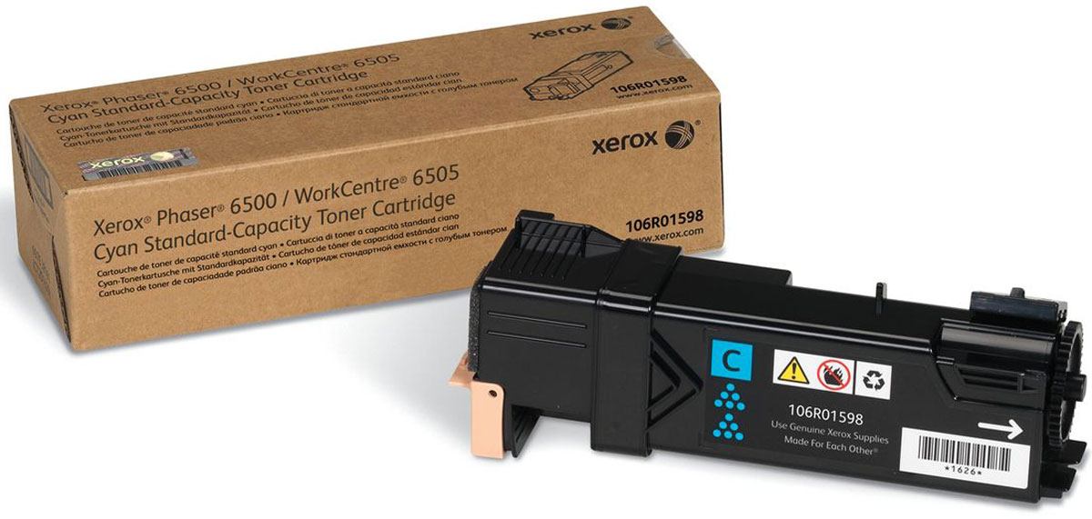 Xerox 106R01598, Cyan тонер-картридж для Xerox Phaser 6500/WorkCentre 6505 картридж easyprint lx 3210 для xerox workcentre 3210 3220 чёрный 4100 страниц с чипом 106r01487