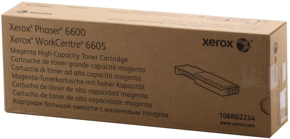 Xerox 106R02234, Magenta тонер-картридж для Xerox Phaser 6600/WorkCentre 6605106R02234Картридж лазерный Xerox 106R02234 идеально подходит для работы с Xerox Phaser 6600 / WorkCentre 6605. Он способен обеспечить печать 6000 страниц при использовании стандартной бумаги формата А4. Картридж изготовлен из качественных материалов и гарантирует работоспособность даже в условиях максимальной загрузки устройства. Картридж повышенной емкости предназначен для печати красным цветом и обеспечивает бесперебойную работу современного оборудования. Xerox 106R02234 - это сочетание лучших материалов по доступной цене.