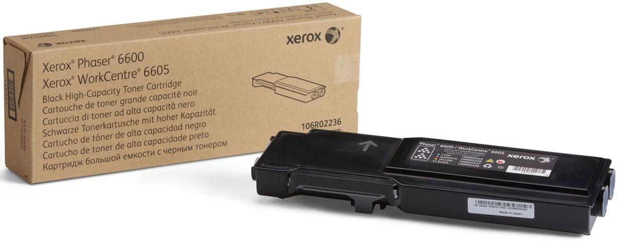 Xerox 106R02236, Black тонер-картридж для Xerox Phaser 6600/WorkCentre 6605106R02236Картридж лазерный Xerox 106R02236 идеально подходит для работы с Xerox Phaser 6600 / WorkCentre 6605. Он способен обеспечить печать 8000 страниц при использовании стандартной бумаги формата А4. Картридж повышенной емкости изготовлен из качественных материалов и гарантирует работоспособность даже в условиях максимальной загрузки устройства. Картридж предназначен для печати черным цветом и обеспечивает бесперебойную работу современного оборудования. Xerox 106R02236 - это сочетание лучших материалов по доступной цене.