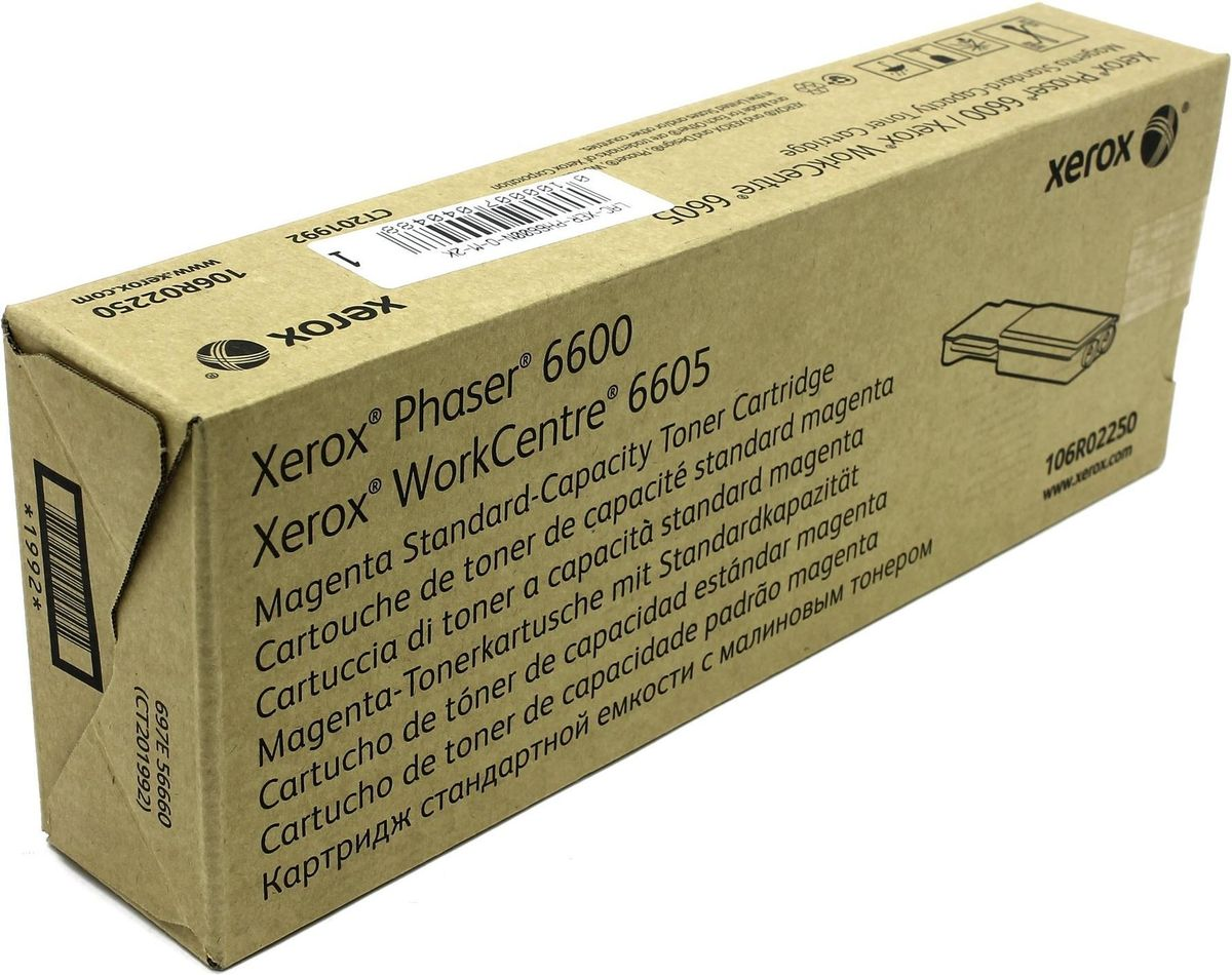 Xerox 106R02250, Magenta тонер-картридж для Xerox Phaser 6600/WorkCentre 6605 картридж xerox 106r01379