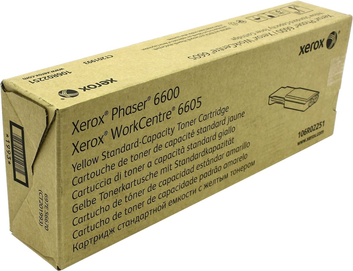 Xerox 106R02251, Yellow тонер-картридж для Xerox Phaser 6600/WorkCentre 6605 картридж easyprint lx 3210 для xerox workcentre 3210 3220 чёрный 4100 страниц с чипом 106r01487