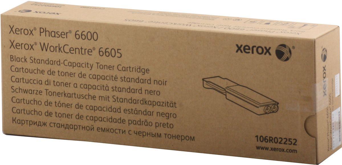 Xerox 106R02252, Black тонер-картридж для Xerox Phaser 6600/WorkCentre 6605 картридж easyprint lx 3210 для xerox workcentre 3210 3220 чёрный 4100 страниц с чипом 106r01487