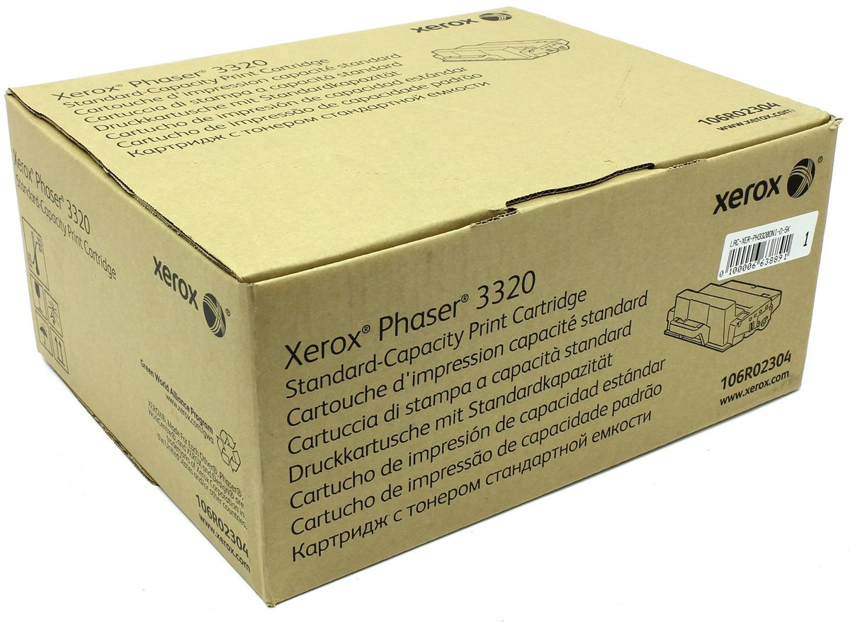 Xerox 106R02304, Black тонер-картридж для Xerox Phaser 3320DNI картридж xerox xx108r00794