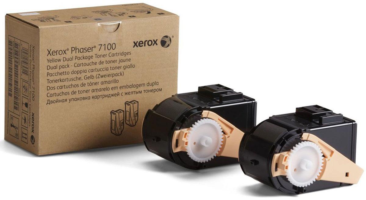 Xerox 106R02611, Yellow тонер-картридж для Xerox Phaser 7100106R02611Картридж лазерный Xerox 106R02611 идеально подходит для работы с Xerox Phaser 7100. Он способен обеспечить печать 9000 страниц при использовании стандартной бумаги формата А4 благодаря двойному комплекту в коробке. Картридж изготовлен из качественных материалов и гарантирует работоспособность даже в условиях максимальной загрузки устройства. Картридж предназначен для печати желтым цветом и обеспечивает бесперебойную работу современного оборудования. Xerox 106R02611 - это сочетание лучших материалов по доступной цене.