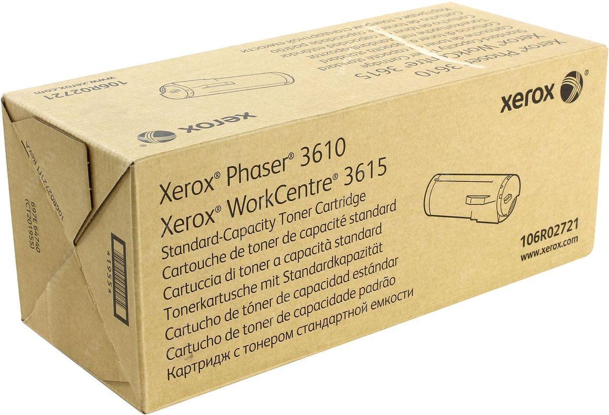 Xerox 106R02721, Black тонер-картридж для Xerox Phaser 3610/WorkCentre 3615106R02721Картридж лазерный Xerox 106R02721 идеально подходит для работы с Xerox Phaser 3610 / WorkCentre 3615. Он способен обеспечить печать 5900 страниц при использовании стандартной бумаги формата А4. Картридж повышенной емкости изготовлен из качественных материалов и гарантирует работоспособность даже в условиях максимальной загрузки устройства. Картридж предназначен для печати черным цветом и обеспечивает бесперебойную работу современного оборудования. Xerox 106R02721 - это сочетание лучших материалов по доступной цене.