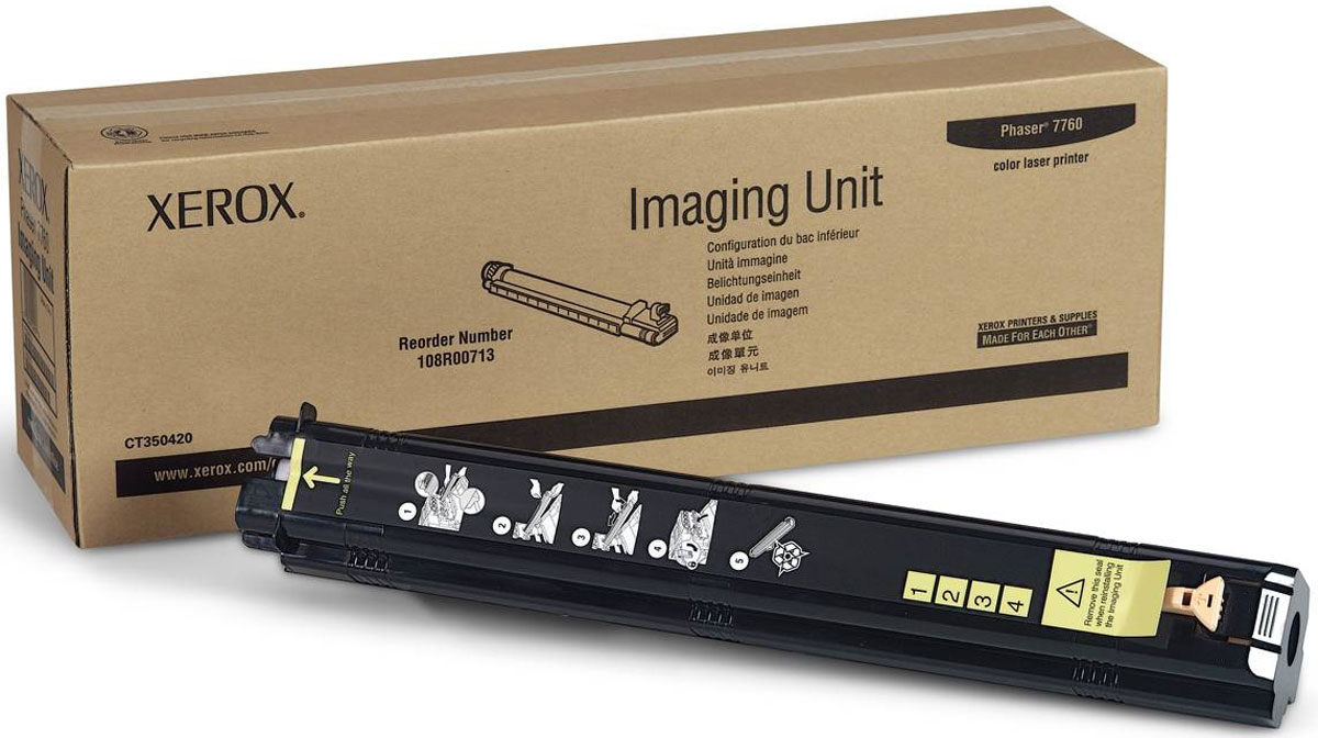 Xerox 108R00713, Black фотобарабан для Xerox Phaser 7760108R00713Фотобарабан для черно-белых изображений Xerox 108R00713 представляет собой оригинальный расходный материал и позволяет значительно продлить срок службы вашего печатного устройства. Представленная модель может использоваться в ряде принтеров популярного бренда Xerox Phaser 7760. Фотобарабан Xerox 108R00713 выполнен из качественных материалов, что обеспечивает длительный срок его службы. Представленный модуль обеспечит бесперебойную печать отличного качества, оптимально подойдет для работы в офисе.