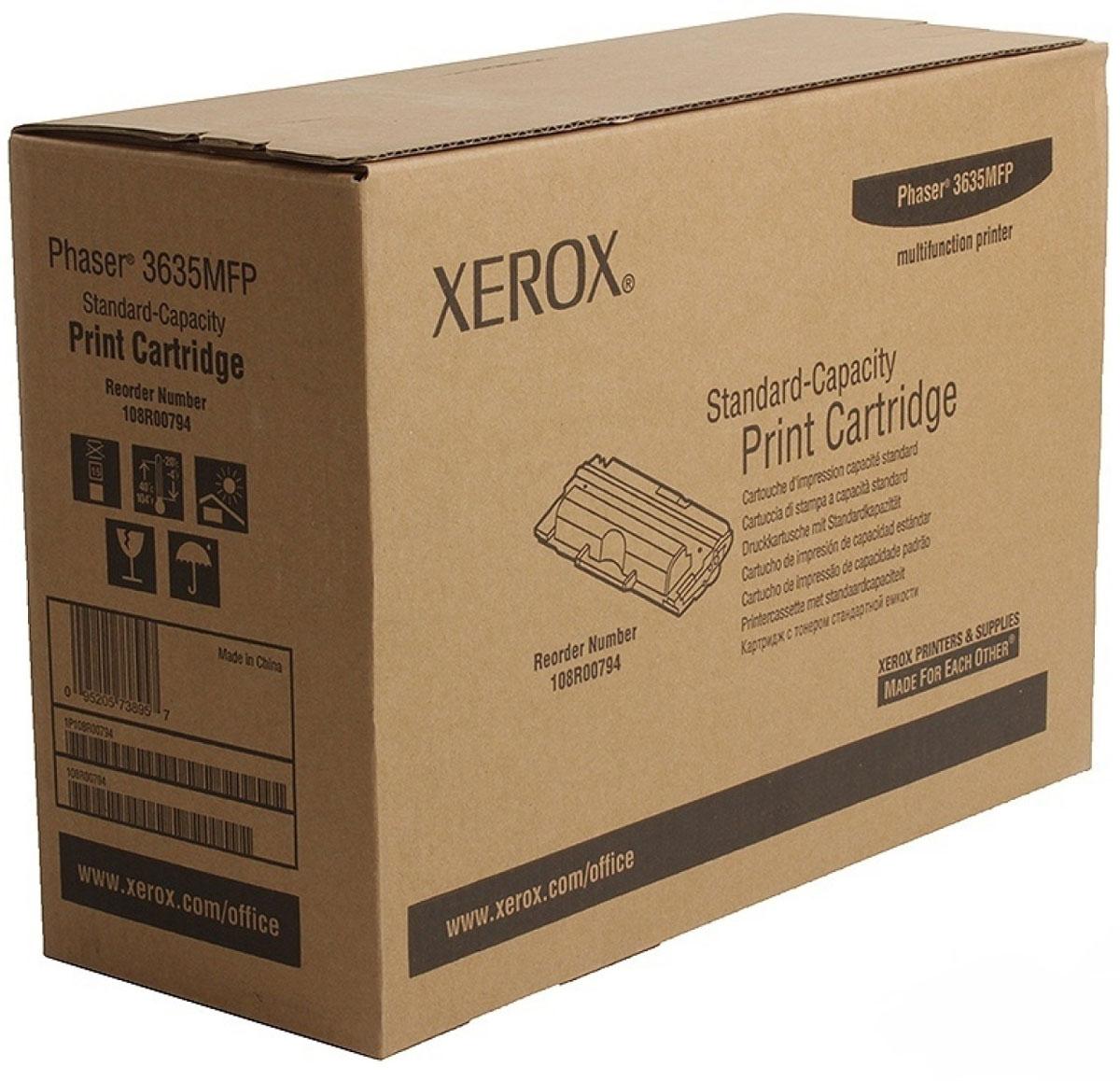 Xerox 108R00794, Black тонер-картридж для Xerox Phaser 3635MFP картридж xerox 106r01379