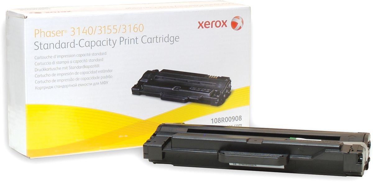 Xerox 108R00908, Black тонер-картридж для Xerox Phaser 3140/3155/3160108R00908Картридж лазерный Xerox 108R00908 идеально подходит для работы с Xerox Phaser 3140/3155/3160. Он способен обеспечить печать 1500 страниц при использовании стандартной бумаги формата А4. Картридж изготовлен из качественных материалов и гарантирует работоспособность даже в условиях максимальной загрузки устройства. Картридж предназначен для печати черным цветом и обеспечивает бесперебойную работу современного оборудования. Xerox 108R00908 - это сочетание лучших материалов по доступной цене.
