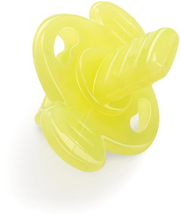 Happy Baby Прорезыватель силиконовый цвет желтый