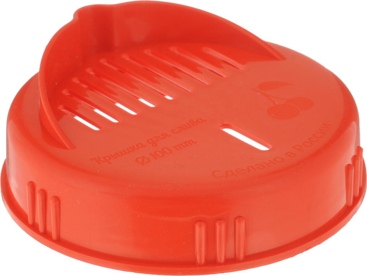 Крышка для слива жидкости из банки Libra Plast, цвет: красный. Диаметр 10 смLP0056_красныйКрышка Libra Plast, изготовленная из прочного пластика, предназначена для удобного сливажидкости из банки. Крышка имеет носик и небольшие отверстия.Диаметр 10 см.