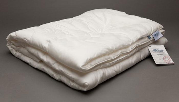 Одеяло Grass Familie Silk Familie Bio, легкое, наполнитель: шелковое волокно, микроволокно, цвет: белый, 200 х 220 см