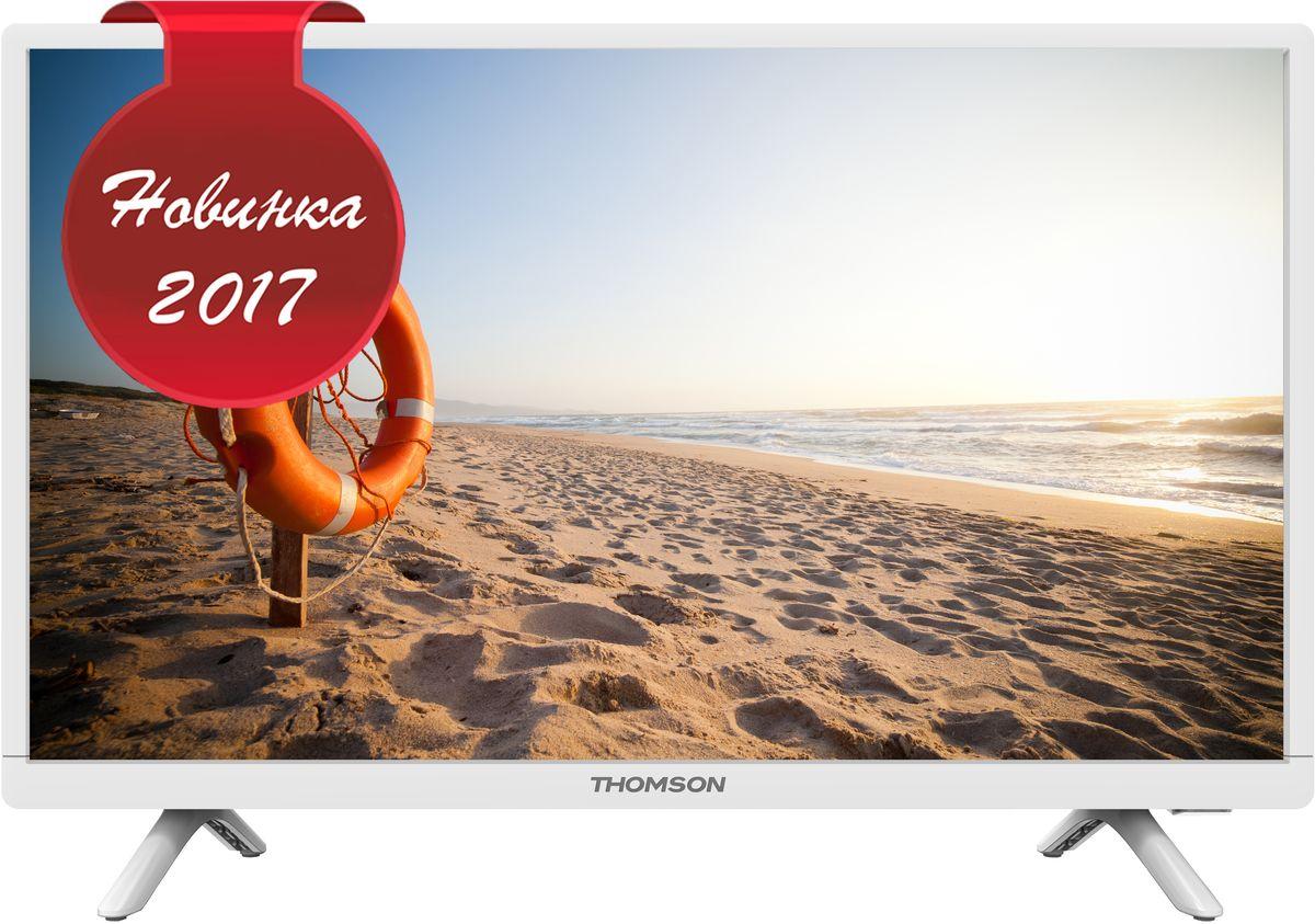 Thomson T24RTE1021, White телевизор90000005026Белый телевизор 24 дюйма со встроенным цифровым тюнером