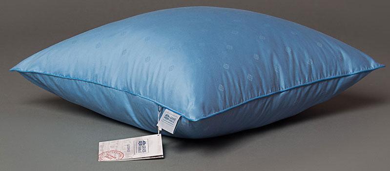 Подушка Grass Familie Blue Familie Down, наполнитель: гусиный пух, перо, цвет: синий, 50 х 68 смFD-2310Чехлы подушек и одеял изготовлены из 100% хлопка ярко-синего цвета с голубым кантом. В качестве наполнителя выступают тщательно отобранные и обработанные пух и перья гусей Тулузской породы. В результате, полученное изделие обладает такими уникальными свойствами, как долговечность, практичность и универсальность.