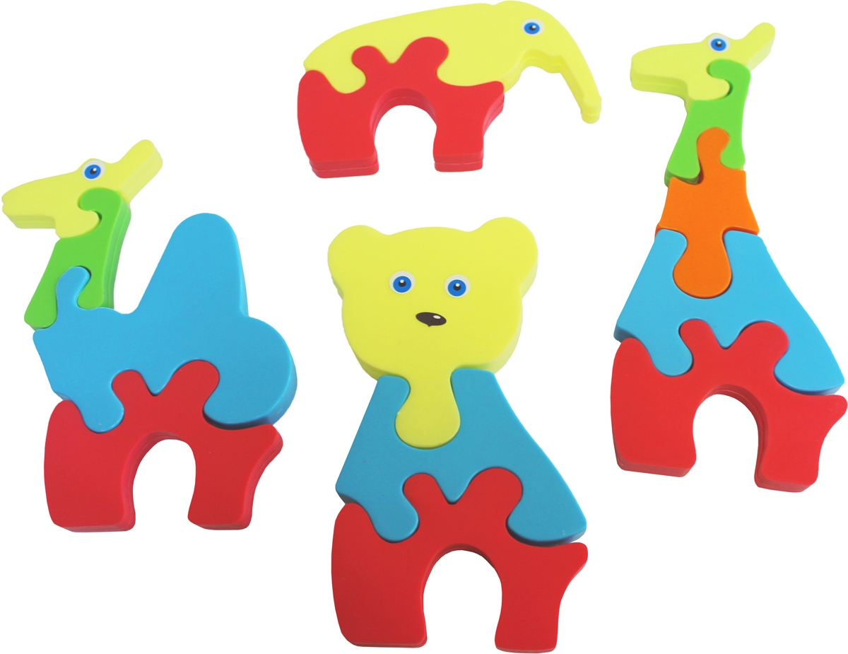 Тима и Тома Набор пазлов для малышей Зверушки тима и тома раскраска с наклейками