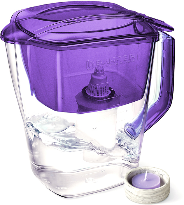 Фильтр-кувшин для очистки воды Барьер Гранд, цвет: жемчужно-фиолетовый барьер стандарт фильтр для воды