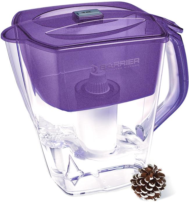 Фильтр-кувшин для очистки воды Барьер Гранд Нео, цвет: жемчужно-фиолетовый4601032994952Настольный фильтр-кувшин для очистки воды Барьер Гранд Нео - это вместительный кувшин с механическим индикатором. Кувшин изготовлен из безопасных материалов, рекомендованных для контакта с питьевой водой.Особенности: - Автоматически открывающаяся воронка. Воронка открывается при наклоне кувшина.- Защита от попадания загрязнений в отфильтрованную воду. Конструкция воронки защищает от попадания пыли в отфильтрованную воду. - Надежное резьбовое крепление кассеты к воронке кувшина исключает попадание неочищенной воды из воронки в отфильтрованную воду. - В комплект входит кассета Стандарт.