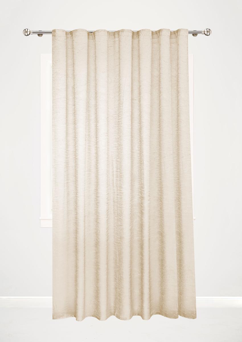 Штора готовая Garden, на ленте, цвет: светло-бежевый, высота 260 см. С W303С W303 V71041Готовая штора Garden - это универсальная портьерадля яркого и стильного оформления окон и созданияособенной уютной атмосферы. Она великолепносмотрится как одна, так и в паре, в комбинации с нежнойтюлевой занавеской, собранная на подхваты и свободнониспадающая естественными складками. Такая штора, изготовленная полностью из прочного иочень практичного полиэстера, долговечна и не боитсястирок, не сминается, не теряет своего блеска и яркостикрасок.