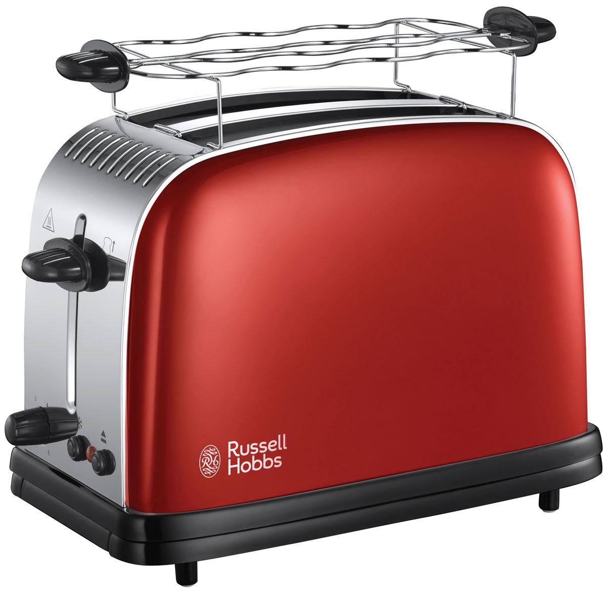 Russell Hobbs 23330-56 тостер23330-56Теперь приготовление тостов стало еще быстрее благодаря более эффективной системе нагрева.В широких слотах поместятся толстые ломтики хлеба и сдобные булочки. Это значит, что вы всегда будете готовить ваши любимые тосты из любого хлеба и с нужной степенью поджарки. Эти стильные тостеры также оснащены функцией размораживания, которая позволяет поджаривать тосты прямо из замороженного хлеба, что значительно сократит время на приготовление завтрака утром, когда каждая минута на счету.Технология быстрого поджаривания. Функция Lift&Look - подъем тостов для проверки степени поджаривания. Экстраподъем. 2 широких слота. Регулировка степеней поджаривании. Функция отмены и разморозки. Центрирование. Поддон для крошек. Отсек для хранения шнура. Материал - нержавеющая сталь.