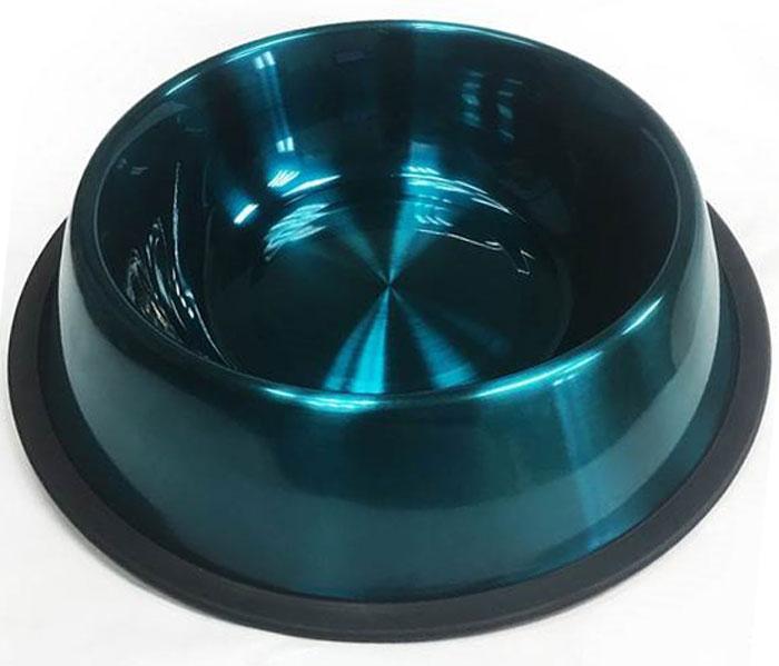 Миска для животных VM, цвет: синий, 700 мл миска для животных vanness цвет горчичный 236 мл