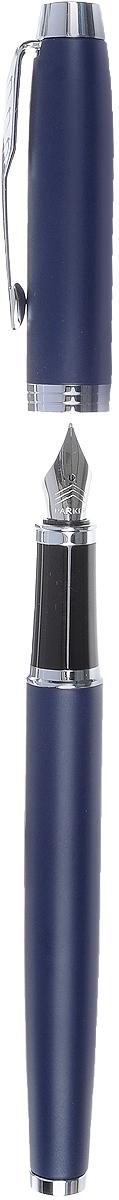 Марка Parker гарантирует полную уверенность в превосходном качестве товара. Перьевая ручка Parker IM Matte Blue CT будет не только долго служить, но и неизменно радовать удобством и легкостью письма, надежностью в эксплуатации и прекрасным эстетическим исполнением. Перьевая ручка Parker IM Matte Blue CT выполнена в корпусе, покрытом темно-синим матовым лаком, и имеет хромированную отделку деталей. Форма ручки - круглая. Перьевая ручка Parker IM Matte Blue CT аккуратно упакована в выдвижной футляр.