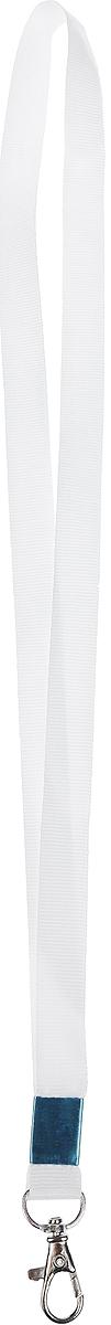 CalligrataЛента для бейджа с карабином цвет белый Calligrata
