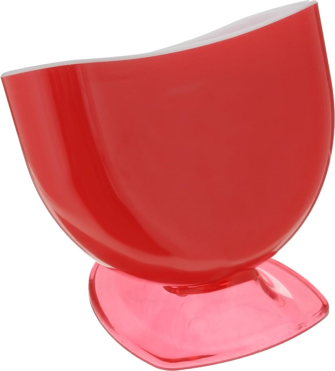 Подставка для губки Libra Plast, цвет: красный. LP0037LP0037_красныйПодставка для губки Libra Plast - это интересное и оригинальное украшение вашей кухни. Она выполнена из пластика.С такой подставкой губка для мытья посуды всегда будет у вас под рукой.Размер подставки (с учетом ножки): 11,5 х 8 х 9 см.