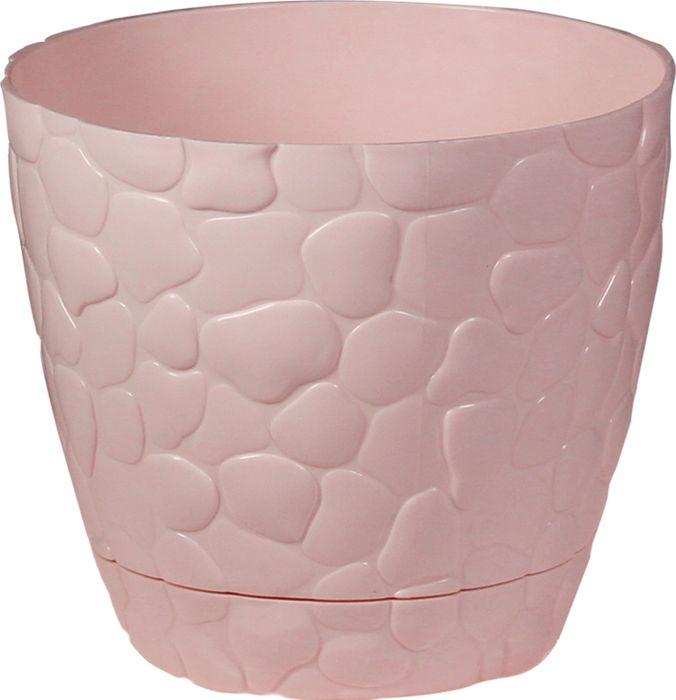 Кашпо Idea Камни, цвет: чайная роза, 2,6 л кашпо xxl москва