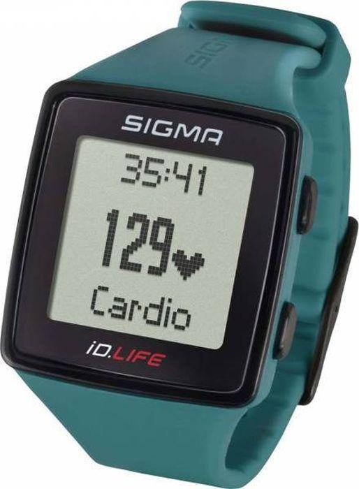 Пульсометр Sigma iD.LIFE, цвет: Pine GreenSIG_24610Монитор сердечного ритма ID.LIFE сочетает в себе основные функции спортивных часов с возможностью отслеживания активности без необходимости использования приложения для смартфона. Определение пульса (не требуется использования нагрудного датчика) за счет встроенного в часы сенсора.Функции пульсометра· Текущая частота сердечных сокращений, измеренная от запястья· Тренировочные зоны· Целевая зона тренировки· Расчет максимальной частоты сердечных сокращений· Статистика тренировок за месяц· Отслеживание активности: шаги/калории/дистанция (может быть отключено)· Вибрация· Индикатор заряда батареи· Подсветка дисплея· Минеральное стекло· Время/дата· Силиконовый ремешок· Блокировка кнопок· Текущая скорость· Общая дистанция