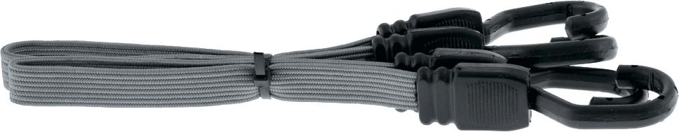 Резинка багажная Stels, плоская, цвет: серый, 1 м54402Изготовлены из высококачественных материалов.Применяются для закрепления грузов, например, на автомобильном багажнике.Ширина резинки 18 мм.