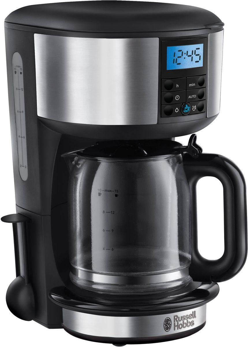 Russell Hobbs Legacy 20681-56, Stainless Steel кофеварка20681-56Капельная кофеварка с усовершенствованной технологией подачи воды для поддержания оптимальной температуры заваривания и экстракции кофе. Достижение оптимальной температуры на 50% быстрее. Стеклянный кувшин объемом 1,25 л. Кольцо с голубой подсветкой во время стадии заваривания и поддержания тепла. Мерная ложка на 1 чашку. Приготовление 10 больших чашек. Съемный держатель фильтра для кофе. Программируемый таймер на 24 часа. Опция заваривания 1-4 чашек. Функция автоматической очистки. Функция пауза во время приготовления. Индикация уровня воды.