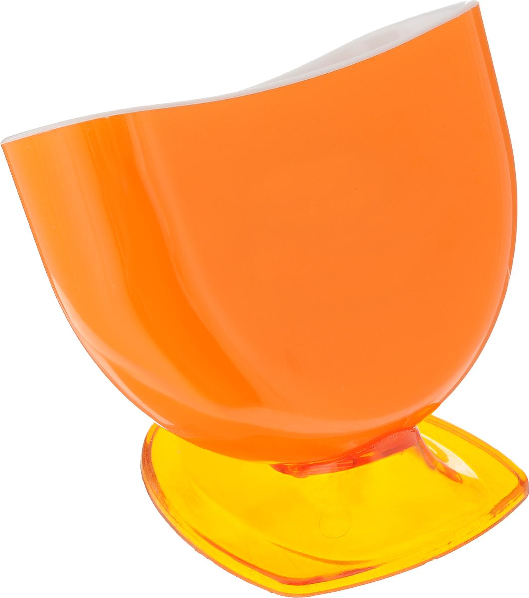 Подставка для губки Libra Plast, цвет: оранжевый. LP0037LP0037_оранжевыйПодставка для губки Libra Plast - это интересное и оригинальное украшение вашей кухни. Она выполнена из пластика.С такой подставкой губка для мытья посуды всегда будет у вас под рукой.Размер подставки (с учетом ножки): 11,5 х 8 х 9 см.