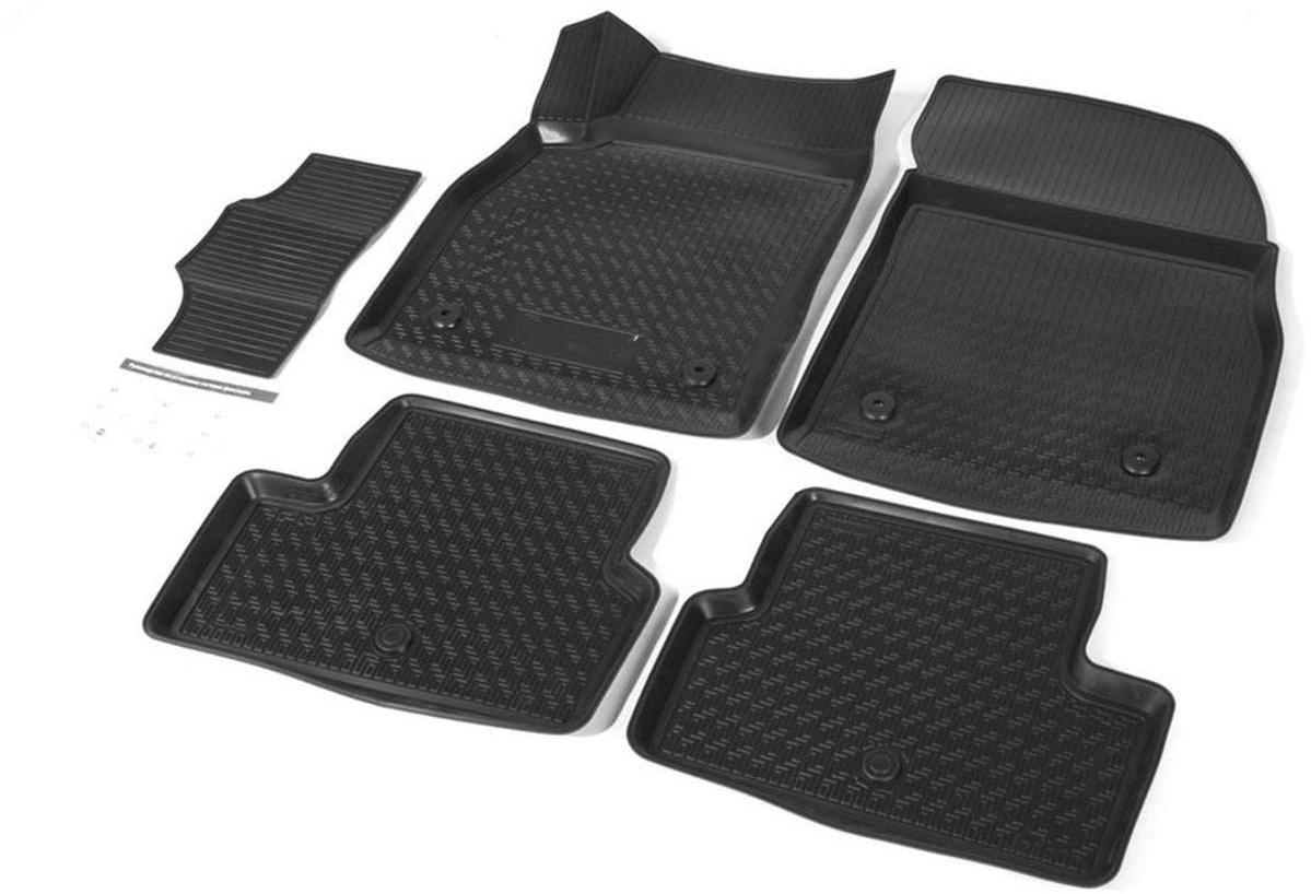 Коврики в салон Rival для Chevrolet Cruze 2009-2015, седан, хэтчбек, универсал, с крепежом, с перемычкой, полиуритан, 5 шт. 1100300111003001Прочные и долговечные коврики Rival в салон автомобиля, изготовлены из высококачественного и экологичного сырья, полностью повторяют геометрию салона вашего автомобиля.- Надежная система крепления, позволяющая закрепить коврик на штатные элементы фиксации, в результате чего отсутствует эффект скольжения по салону автомобиля.- Высокая стойкость поверхности к стиранию.- Специализированный рисунок и высокий борт, препятствующие распространению грязи и жидкости по поверхности коврика.- Перемычка задних ковриков в комплекте предотвращает загрязнение тоннеля карданного вала.- Произведены из первичных материалов, в результате чего отсутствует неприятный запах в салоне автомобиля.- Высокая эластичность, можно беспрепятственно эксплуатировать при температуре от -45 ?C до +45 ?C.Уважаемые клиенты!Обращаем ваше внимание,что коврики имеет формусоответствующую модели данного автомобиля. Фото служит для визуального восприятия товара.