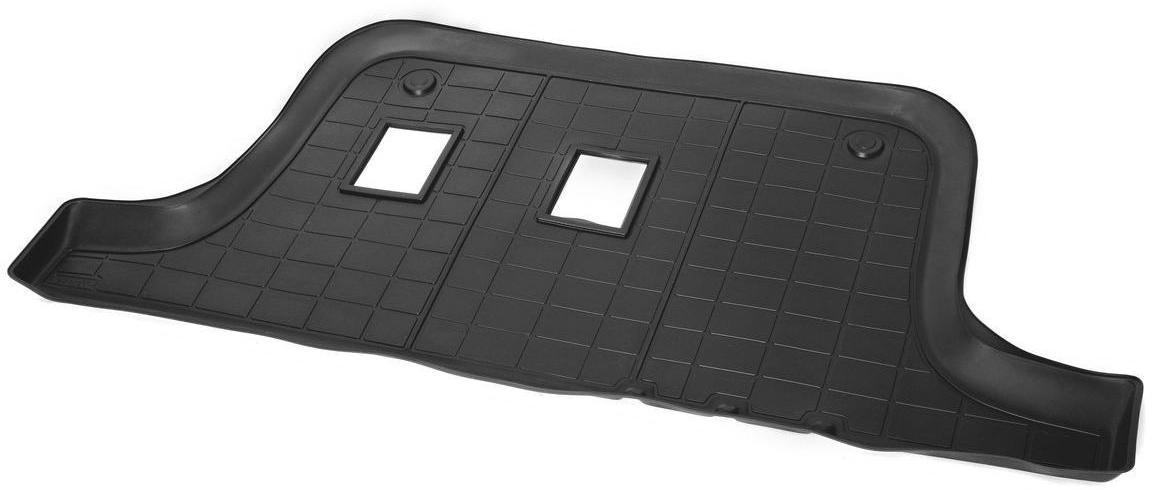 Коврик в салон Rival для Chevrolet Trailblazer 2012-н.в., 3-й ряд, с крепежом, полиуритан, 1 шт. 1100800211008002Прочные и долговечные коврики Rival в салон автомобиля, изготовлены из высококачественного и экологичного сырья, полностью повторяют геометрию салона вашего автомобиля.- Надежная система крепления, позволяющая закрепить коврик на штатные элементы фиксации, в результате чего отсутствует эффект скольжения по салону автомобиля.- Высокая стойкость поверхности к стиранию.- Специализированный рисунок и высокий борт, препятствующие распространению грязи и жидкости по поверхности коврика.- Перемычка задних ковриков в комплекте предотвращает загрязнение тоннеля карданного вала.- Произведены из первичных материалов, в результате чего отсутствует неприятный запах в салоне автомобиля.- Высокая эластичность, можно беспрепятственно эксплуатировать при температуре от -45 ?C до +45 ?C.Уважаемые клиенты!Обращаем ваше внимание,что коврики имеет формусоответствующую модели данного автомобиля. Фото служит для визуального восприятия товара.