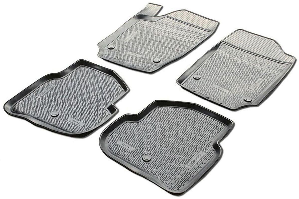 Коврики в салон Rival для Nissan Pathfinder 2013-н.в., с крепежом, полиуритан, 4 шт. 1410400114104001Прочные и долговечные коврики Rival в салон автомобиля, изготовлены из высококачественного и экологичного сырья, полностью повторяют геометрию салона вашего автомобиля.- Надежная система крепления, позволяющая закрепить коврик на штатные элементы фиксации, в результате чего отсутствует эффект скольжения по салону автомобиля.- Высокая стойкость поверхности к стиранию.- Специализированный рисунок и высокий борт, препятствующие распространению грязи и жидкости по поверхности коврика.- Перемычка задних ковриков в комплекте предотвращает загрязнение тоннеля карданного вала.- Произведены из первичных материалов, в результате чего отсутствует неприятный запах в салоне автомобиля.- Высокая эластичность, можно беспрепятственно эксплуатировать при температуре от -45 ?C до +45 ?C.Уважаемые клиенты!Обращаем ваше внимание,что коврики имеет формусоответствующую модели данного автомобиля. Фото служит для визуального восприятия товара.