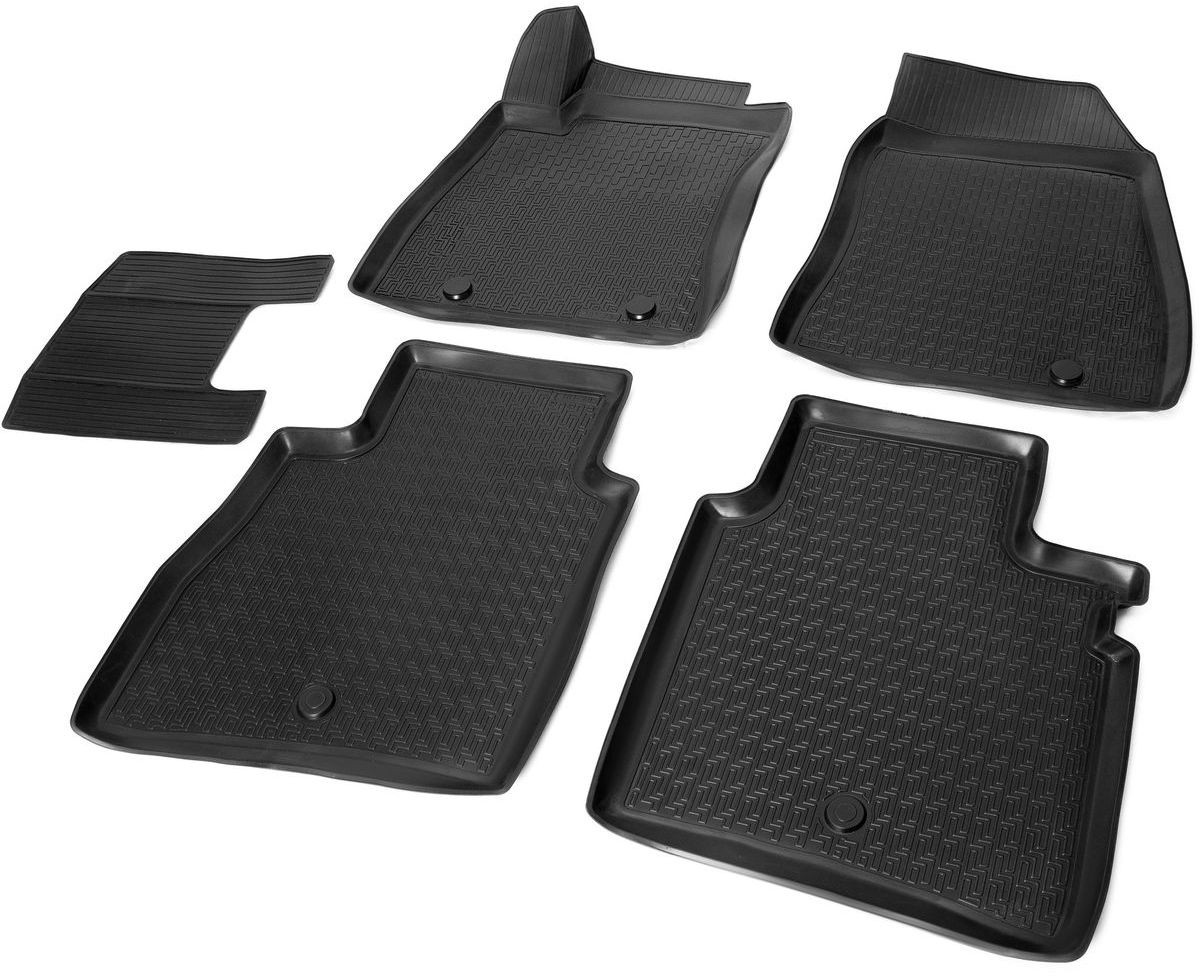 Коврики салона Rival для Nissan Sentra 2014-, c перемычкой, полиуретан14106001Прочные и долговечные коврики Rival в салон автомобиля, изготовлены из высококачественного и экологичного сырья, полностью повторяют геометрию салона вашего автомобиля.- Надежная система крепления, позволяющая закрепить коврик на штатные элементы фиксации, в результате чего отсутствует эффект скольжения по салону автомобиля.- Высокая стойкость поверхности к стиранию.- Специализированный рисунок и высокий борт, препятствующие распространению грязи и жидкости по поверхности коврика.- Перемычка задних ковриков в комплекте предотвращает загрязнение тоннеля карданного вала.- Произведены из первичных материалов, в результате чего отсутствует неприятный запах в салоне автомобиля.- Высокая эластичность, можно беспрепятственно эксплуатировать при температуре от -45 ?C до +45 ?C.Уважаемые клиенты!Обращаем ваше внимание,что коврики имеет формусоответствующую модели данного автомобиля. Фото служит для визуального восприятия товара.