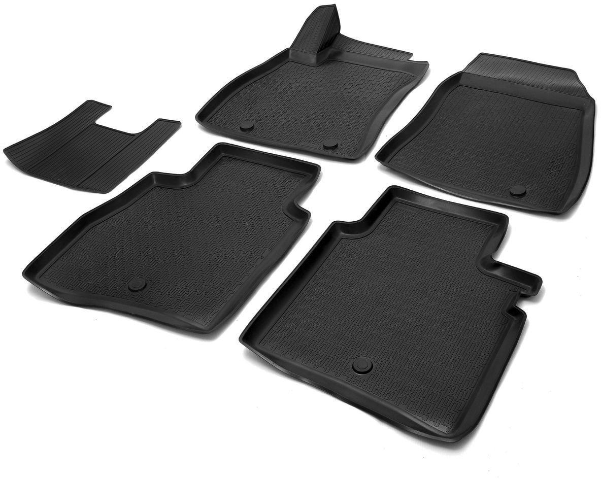Коврики салона Rival для Nissan Tiida 2015-, c перемычкой, полиуретан14110001Прочные и долговечные коврики Rival в салон автомобиля, изготовлены из высококачественного и экологичного сырья, полностью повторяют геометрию салона вашего автомобиля.- Надежная система крепления, позволяющая закрепить коврик на штатные элементы фиксации, в результате чего отсутствует эффект скольжения по салону автомобиля.- Высокая стойкость поверхности к стиранию.- Специализированный рисунок и высокий борт, препятствующие распространению грязи и жидкости по поверхности коврика.- Перемычка задних ковриков в комплекте предотвращает загрязнение тоннеля карданного вала.- Произведены из первичных материалов, в результате чего отсутствует неприятный запах в салоне автомобиля.- Высокая эластичность, можно беспрепятственно эксплуатировать при температуре от -45 ?C до +45 ?C.Уважаемые клиенты!Обращаем ваше внимание,что коврики имеет формусоответствующую модели данного автомобиля. Фото служит для визуального восприятия товара.