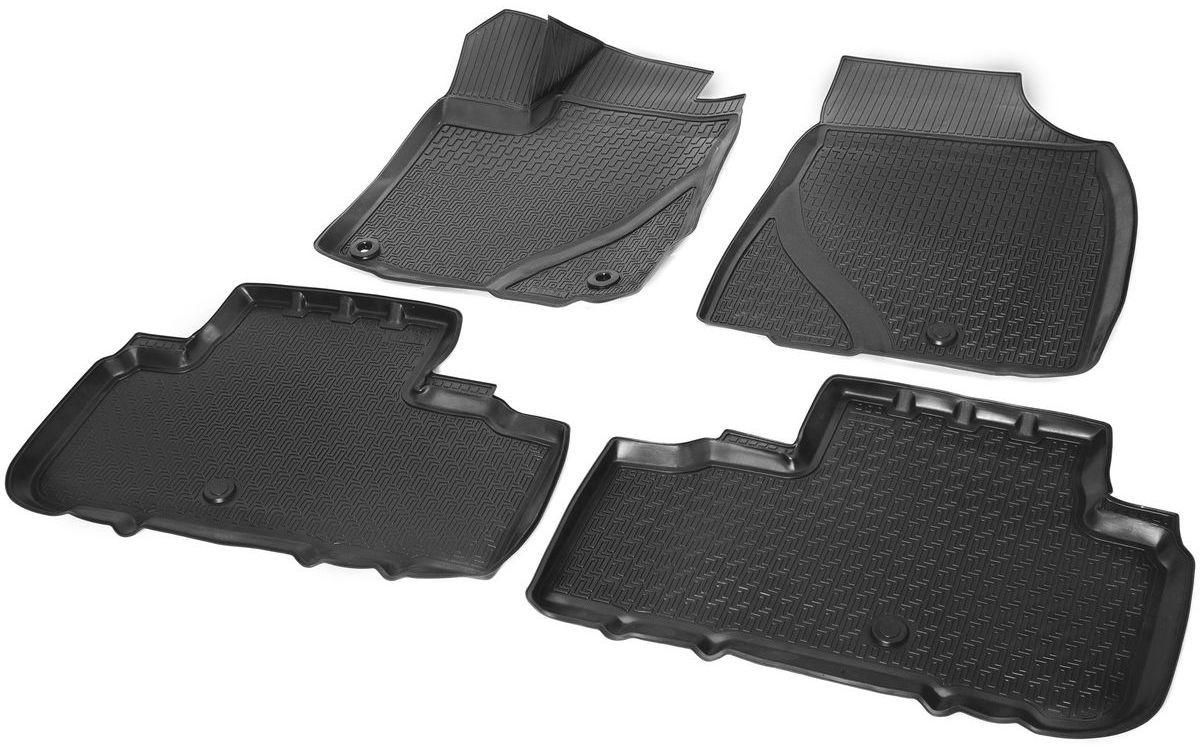 Коврики в салон Rival для Toyota Highlander 2014-н.в., с крепежом, полиуритан, 4 шт. 1570300115703001Прочные и долговечные коврики Rival в салон автомобиля, изготовлены из высококачественного и экологичного сырья, полностью повторяют геометрию салона вашего автомобиля.- Надежная система крепления, позволяющая закрепить коврик на штатные элементы фиксации, в результате чего отсутствует эффект скольжения по салону автомобиля.- Высокая стойкость поверхности к стиранию.- Специализированный рисунок и высокий борт, препятствующие распространению грязи и жидкости по поверхности коврика.- Перемычка задних ковриков в комплекте предотвращает загрязнение тоннеля карданного вала.- Произведены из первичных материалов, в результате чего отсутствует неприятный запах в салоне автомобиля.- Высокая эластичность, можно беспрепятственно эксплуатировать при температуре от -45 ?C до +45 ?C.Уважаемые клиенты!Обращаем ваше внимание,что коврики имеет формусоответствующую модели данного автомобиля. Фото служит для визуального восприятия товара.