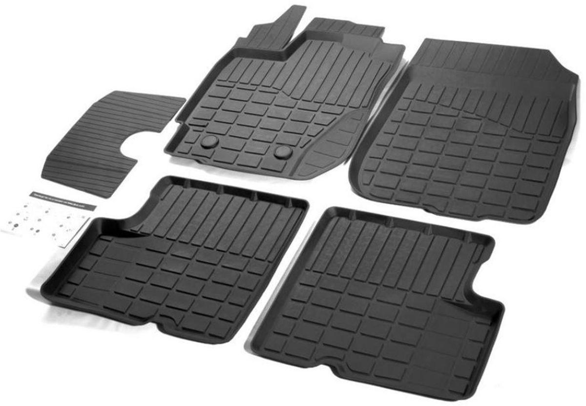 Коврики в салон литьевые Rival для Nissan Terrano 2WD/4WD 2017-н.в. / Renault Duster 2WD/4WD 2015-н.в., с крепежом, с перемычкой, резина, 5 шт. 6470100364701003Современная версия ковриков Rival для автомобилей, изготовлены из высококачественного и экологичного сырья с использованием технологии высокоточного литься под давлением, полностью повторяют геометрию салона вашего автомобиля.- Усиленная зона подпятника под педалями защищает наиболее подверженную истиранию область.- Надежная система крепления, позволяющая закрепить коврик на штатные элементы фиксации, в результате чего отсутствует эффект скольжения по салону автомобиля.- Высокая стойкость поверхности к стиранию.- Специализированный рисунок и высокий борт, препятствующие распространению грязи и жидкости по поверхности коврика.- Перемычка задних ковриков в комплекте предотвращает загрязнение тоннеля карданного вала.- Произведены из первичных материалов, в результате чего отсутствует неприятный запах в салоне автомобиля.- Высокая эластичность, можно беспрепятственно эксплуатировать при температуре от -45 ?C до +45 ?C.Уважаемые клиенты!Обращаем ваше внимание,что коврики имеет формусоответствующую модели данного автомобиля. Фото служит для визуального восприятия товара.