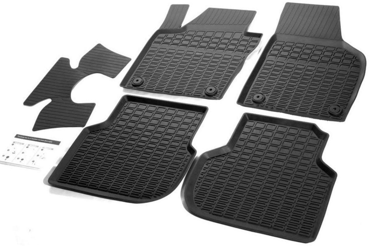 Коврики салона Rival литьевые для VW Jetta 2010-, c перемычкой, резина коврики салона rival литьевые для renault duster 2wd 2015 c перемычкой резина