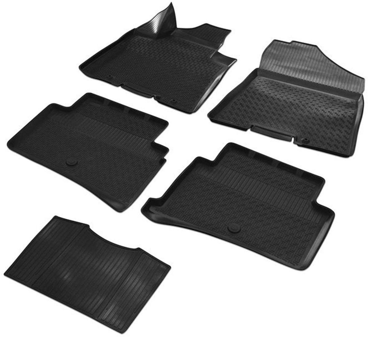 Коврики салона Rival для Hyundai Tucson 2016-, c перемычкой, полиуретан12309001Прочные и долговечные коврики Rival в салон автомобиля, изготовлены из высококачественного и экологичного сырья. Коврики полностью повторяют геометрию салона вашего автомобиля.- Надежная система крепления, позволяющая закрепить коврик на штатные элементы фиксации, в результате чего отсутствует эффект скольжения по салону автомобиля.- Высокая стойкость поверхности к стиранию.- Специализированный рисунок и высокий борт, препятствующие распространению грязи и жидкости по поверхности коврика.- Перемычка задних ковриков в комплекте предотвращает загрязнение тоннеля карданного вала.- Коврики произведены из первичных материалов, в результате чего отсутствует неприятный запах в салоне автомобиля.- Высокая эластичность, можно беспрепятственно эксплуатировать при температуре от -45°C до +45°C. Уважаемые клиенты! Обращаем ваше внимание, что коврики имеют форму, соответствующую модели данного автомобиля. Фото служит для визуального восприятия товара.