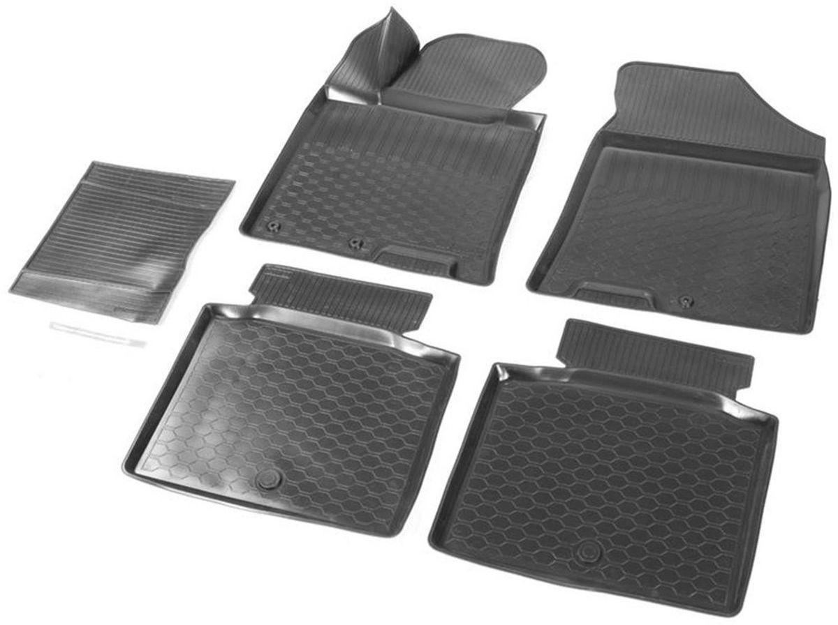 Коврики в салон Rival для Hyundai i40 2011-2016 2016-н.в., седан, универсал, с крепежом, с перемычкой, полиуритан, 5 шт. 1230300112303001Прочные и долговечные коврики Rival в салон автомобиля, изготовлены из высококачественного и экологичного сырья. Коврики полностью повторяют геометрию салона вашего автомобиля.- Надежная система крепления, позволяющая закрепить коврик на штатные элементы фиксации, в результате чего отсутствует эффект скольжения по салону автомобиля.- Высокая стойкость поверхности к стиранию.- Специализированный рисунок и высокий борт, препятствующие распространению грязи и жидкости по поверхности коврика.- Перемычка задних ковриков в комплекте предотвращает загрязнение тоннеля карданного вала.- Коврики произведены из первичных материалов, в результате чего отсутствует неприятный запах в салоне автомобиля.- Высокая эластичность, можно беспрепятственно эксплуатировать при температуре от -45°C до +45°C. Уважаемые клиенты! Обращаем ваше внимание, что коврики имеют форму, соответствующую модели данного автомобиля. Фото служит для визуального восприятия товара.