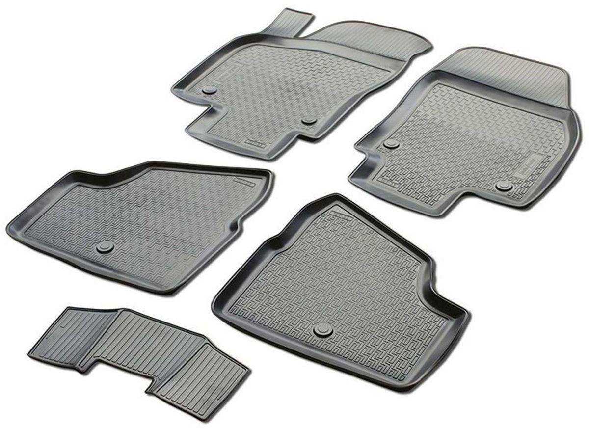 Коврики в салон Rival для Opel Astra H 2004-2012, хэтчбек 5-дверный, универсал, с крепежом, с перемычкой, полиуритан, 5 шт. 1420200114202001Прочные и долговечные коврики Rival в салон автомобиля, изготовлены из высококачественного и экологичного сырья. Коврики полностью повторяют геометрию салона вашего автомобиля.- Надежная система крепления, позволяющая закрепить коврик на штатные элементы фиксации, в результате чего отсутствует эффект скольжения по салону автомобиля.- Высокая стойкость поверхности к стиранию.- Специализированный рисунок и высокий борт, препятствующие распространению грязи и жидкости по поверхности коврика.- Перемычка задних ковриков в комплекте предотвращает загрязнение тоннеля карданного вала.- Коврики произведены из первичных материалов, в результате чего отсутствует неприятный запах в салоне автомобиля.- Высокая эластичность, можно беспрепятственно эксплуатировать при температуре от -45°C до +45°C. Уважаемые клиенты! Обращаем ваше внимание, что коврики имеют форму, соответствующую модели данного автомобиля. Фото служит для визуального восприятия товара.