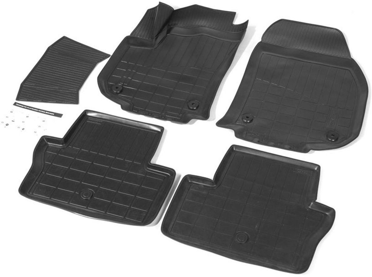 Коврики салона Rival для Opel Zafira Family 2012-, c перемычкой, полиуретан14207001Прочные и долговечные коврики Rival в салон автомобиля, изготовлены из высококачественного и экологичного сырья. Коврики полностью повторяют геометрию салона вашего автомобиля.- Надежная система крепления, позволяющая закрепить коврик на штатные элементы фиксации, в результате чего отсутствует эффект скольжения по салону автомобиля.- Высокая стойкость поверхности к стиранию.- Специализированный рисунок и высокий борт, препятствующие распространению грязи и жидкости по поверхности коврика.- Перемычка задних ковриков в комплекте предотвращает загрязнение тоннеля карданного вала.- Коврики произведены из первичных материалов, в результате чего отсутствует неприятный запах в салоне автомобиля.- Высокая эластичность, можно беспрепятственно эксплуатировать при температуре от -45°C до +45°C. Уважаемые клиенты! Обращаем ваше внимание, что коврики имеют форму, соответствующую модели данного автомобиля. Фото служит для визуального восприятия товара.