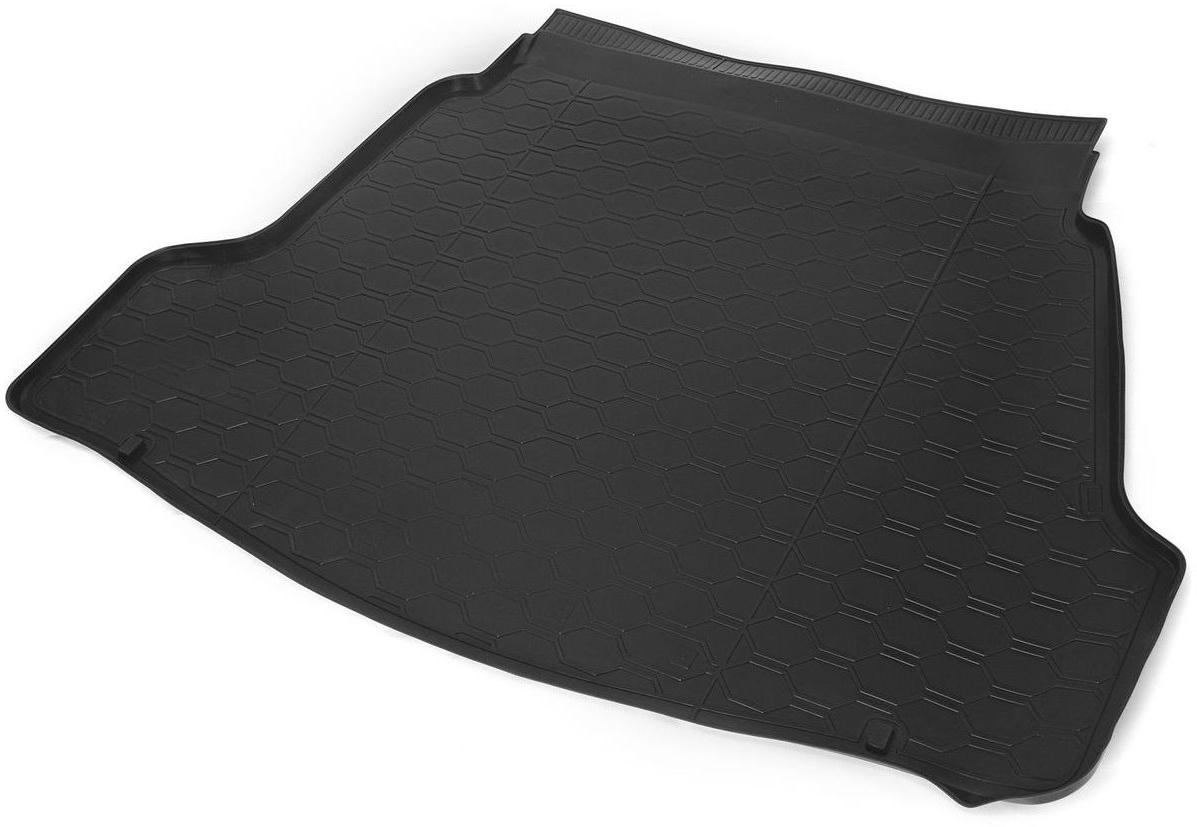 Коврик в багажник Rival для Hyundai i40 2013-н.в., седан, полиуритан, 1 шт, 1230300212303002Коврик багажника Rival позволяет надежно защитить и сохранить от грязи багажный отсек вашего автомобиля на протяжении всего срока эксплуатации, полностью повторяют геометрию багажника.- Высокий борт специальной конструкции препятствует попаданию разлитой жидкости и грязи на внутреннюю отделку.- Произведен из первичных материалов, в результате чего отсутствует неприятный запах в салоне автомобиля.- Рисунок обеспечивает противоскользящую поверхность, благодаря которой перевозимые предметы не перекатываются в багажном отделении, а остаются на своих местах.- Высокая эластичность, можно беспрепятственно эксплуатировать при температуре от -45°C до +45°C.- Коврик изготовлен из высококачественного и экологичного материала, не подверженного воздействию кислот, щелочей и нефтепродуктов. Уважаемые клиенты! Обращаем ваше внимание, что коврик имеет форму, соответствующую модели данного автомобиля. Фото служит для визуального восприятия товара.